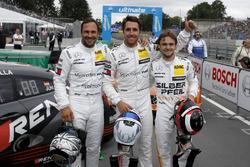 Top 3 after qualifying: Pole position for Daniel Juncadella, Mercedes-AMG Team HWA, Gary Paffett, Mercedes-AMG Team HWA, Lucas Auer, Mercedes-AMG Team HWA