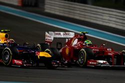 Felipe Massa, Ferrari F2012, in gevecht met Mark Webber, Red Bull Racing RB8