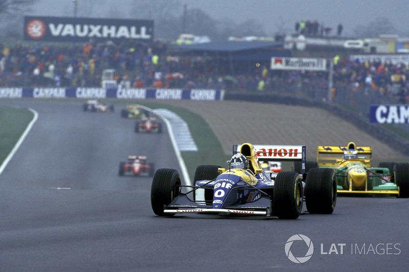 Damon Hill, Williams FW15C ve Michael Schumacher, Benetton B193