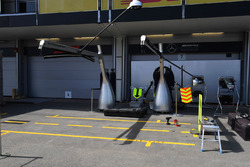 Mercedes AMG F1 garage and screens