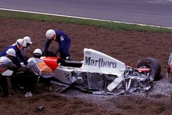 Unfallauto von Michael Andretti, McLaren MP4/8