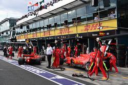 Sebastian Vettel, Ferrari SF-71H and Kimi Raikkonen, Ferrari SF-71H