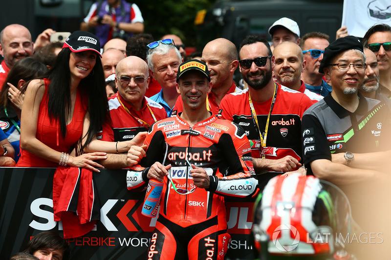Il terzo classificato Marco Melandri, Aruba.it Racing-Ducati SBK Team