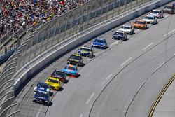 Erik Jones, Joe Gibbs Racing, Toyota Camry XYO Network and Alex Bowman, Hendrick Motorsports, Chevrolet Camaro Nationwide