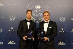 Sebastian Vettel e Valterri Bottas