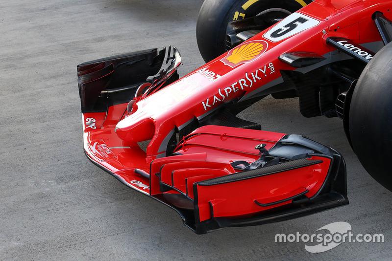 Un aileron avant de Ferrari SF71H