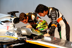Esteban Ocon, Sahara Force India F1 Team avec Sergio Perez, Sahara Force India F1 et la Sahara Force India F1 VJM10
