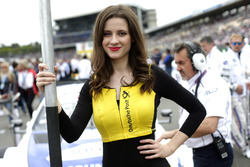 Grid girl of  of Maxime Martin, BMW Team RBM, BMW M4 DTM