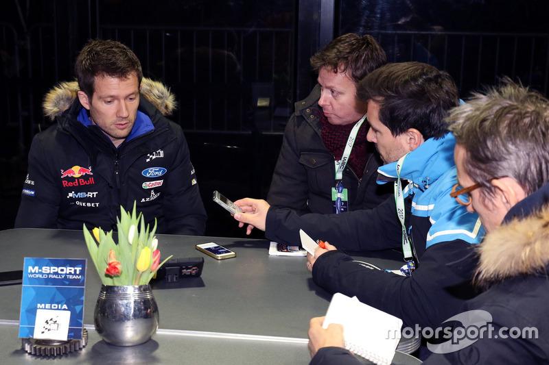 Sébastien Ogier, M-Sport with the media