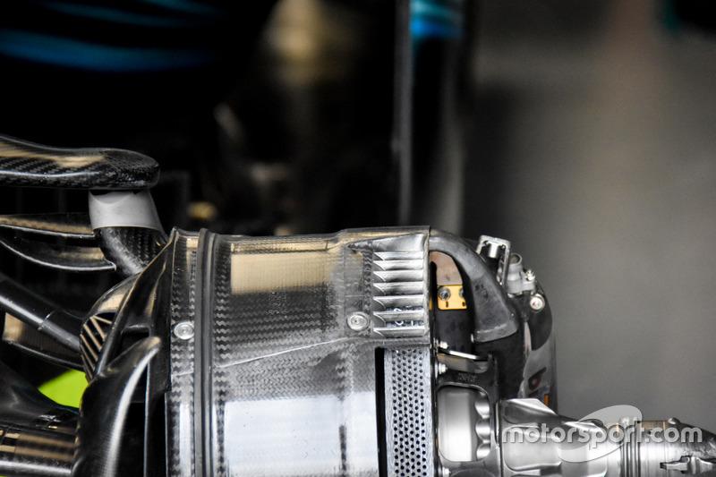 Mercedes AMG F1 W08, vue détaillée des freins