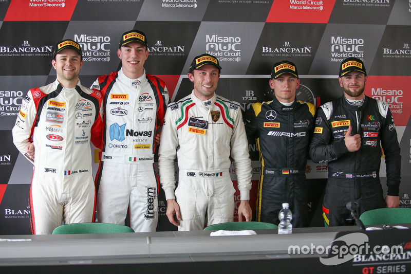 Jules Gounon, Raffaele Marciello, Akka ASP; Marco Mapelli, Attempto Racing; Maximilian Buhk, Mercede