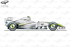 Brawn BGP 001 2009 Bahrain side view