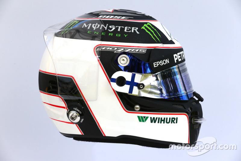 Casco de Valtteri Bottas, Mercedes AMG F1 W08