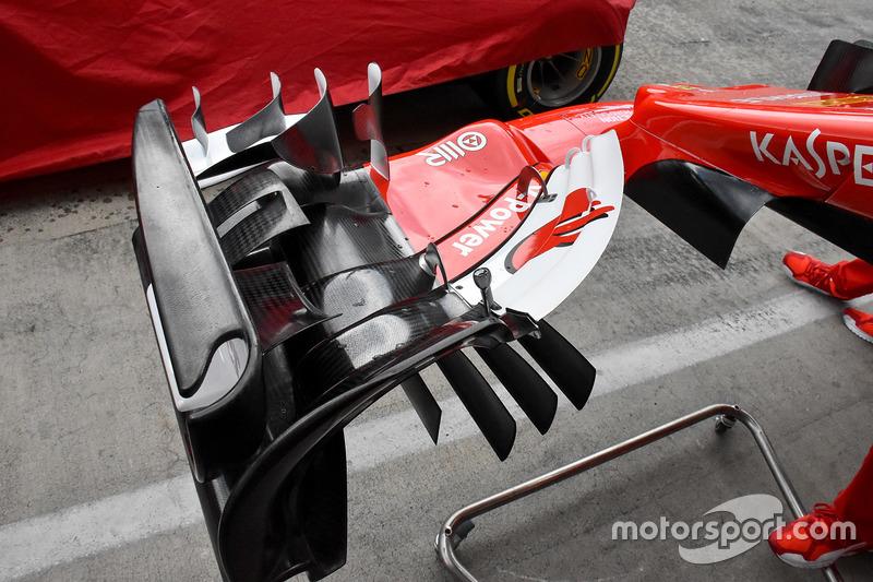 Ferrari SF70H voorvleugel