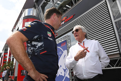 Dr Helmut Marko, Red Bull Motorsport Consultant and Bernie Ecclestone