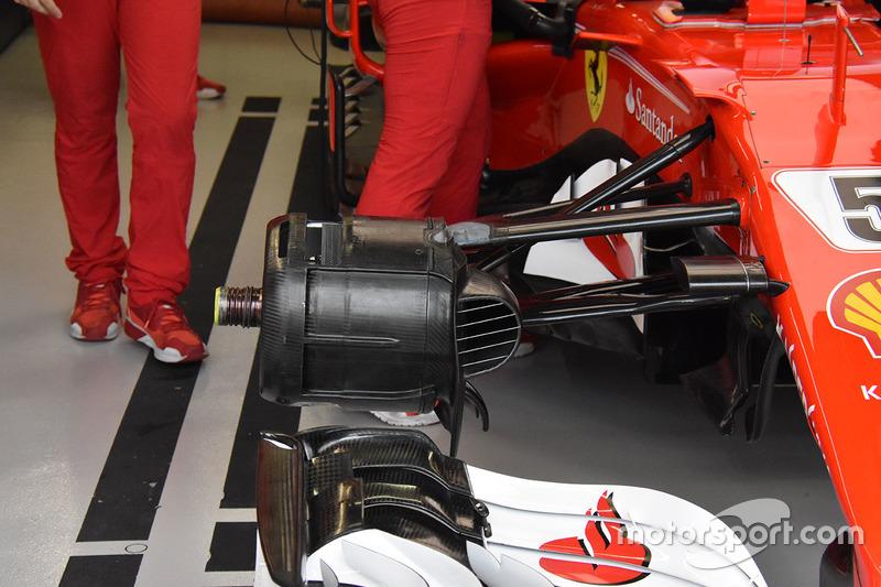 Ferrari SF70H, dettaglio del freno anteriore