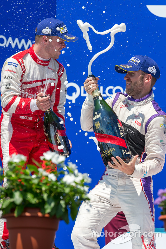 1. Sam Bird, DS Virgin Racing; 2. Felix Rosenqvist, Mahindra Racing