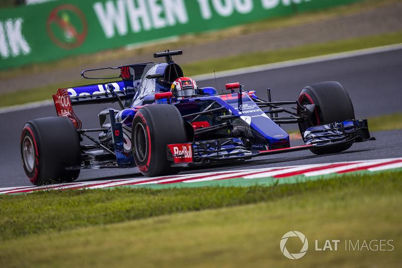 Pierre Gasly, Scuderia Toro Rosso STR12 nat Formula One World Championship, Rd16, Japanese Grand Prix, Qualifying, Suzuka, Japan, Saturday 7 October 2017.