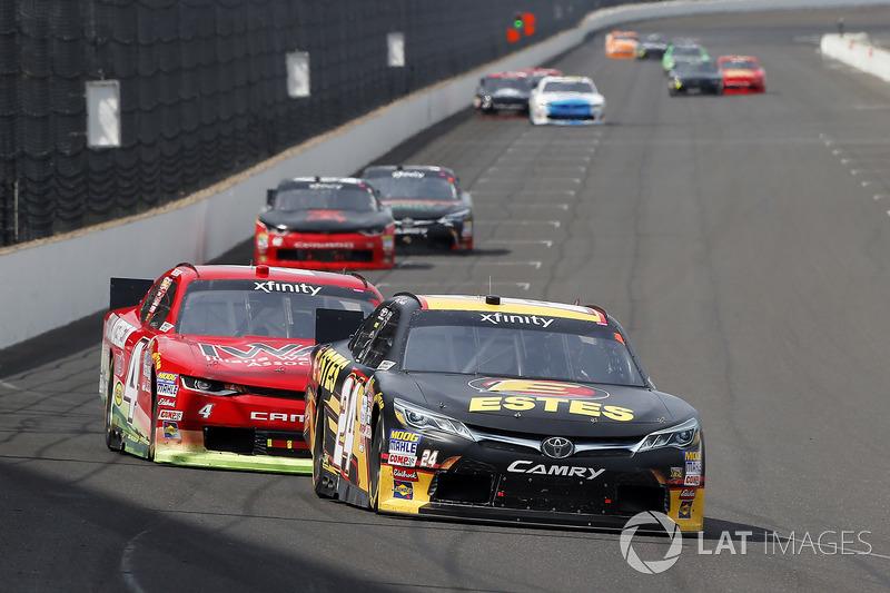 Jeb Burton, JGL Racing Toyota, Ross Chastain, JD Motorsports Chevrolet