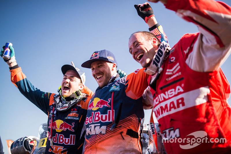 Sam Sunderland, Red Bull KTM Factory Racing, Matthias Walkner, Red Bull KTM Factory Racing, Gerard Farrés, Himoinsa Racing Team KTM