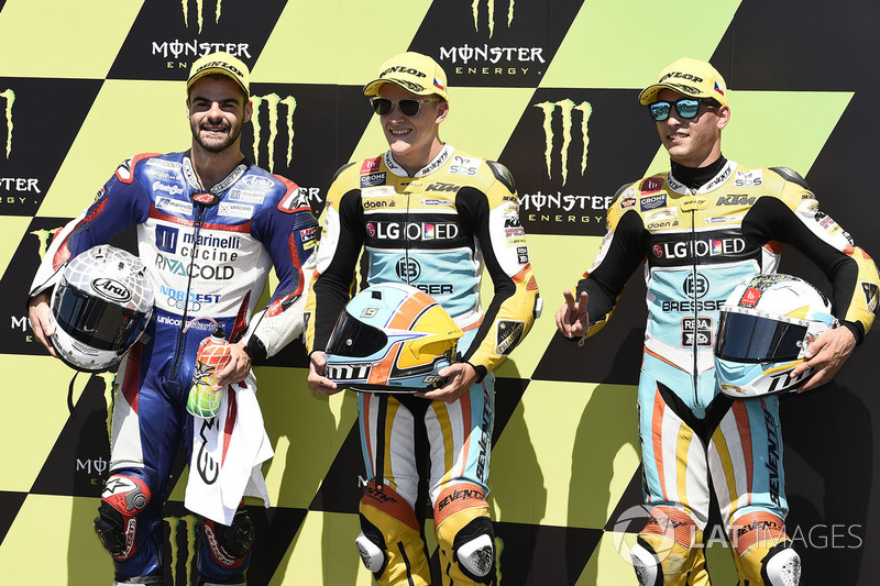 Romano Fenati, Marinelli Rivacold Snipers, Gabriel Rodrigo, RBA Racing Team, Juan Francisco Guevara, RBA Racing Team
