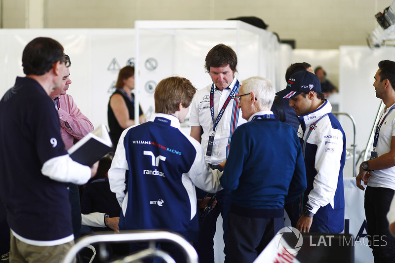 Rob Smedley, Chefingenieur, Williams, Felipe Massa, Williams; Antonio Pizzeria