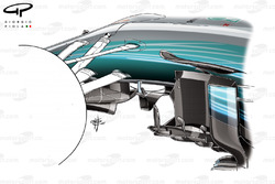 Mercedes F1 W08: Winglets, GP Monaco