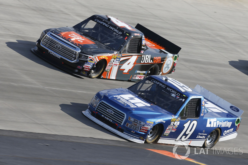 Austin Cindric, Brad Keselowski Racing, Ford; Christopher Bell, Kyle Busch Motorsports, Toyota
