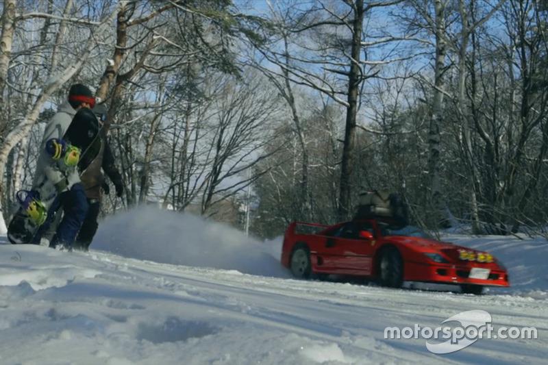Ferrari F40 у снігу