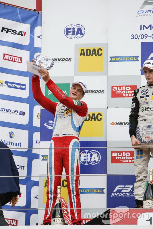 Rookie Podium: Ralf Aron, Prema Powerteam Dallara F312 – Mercedes-Benz