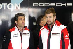 #77 Dempsey Proton Competition Porsche 911 RSR: Michael Christensen with Patrick Dempsey