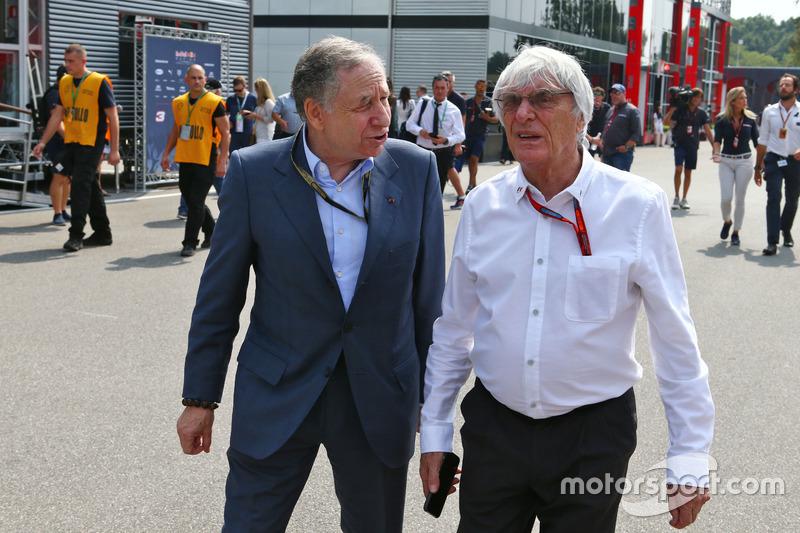 (da sx a dx): Jean Todt, Presidente FIA con Bernie Ecclestone