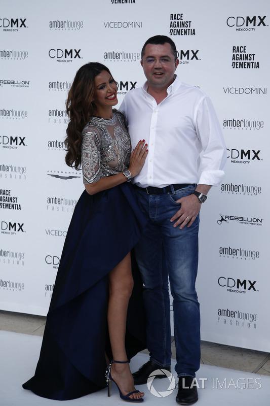 Eric Boullier, McLaren Racing Director and wife Tamara Boullier