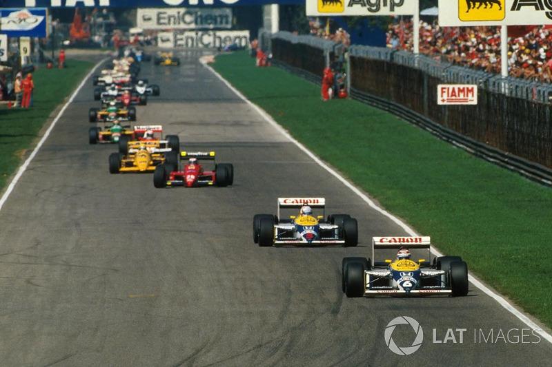 1987 - Piquet se lleva el duelo entre compañeros y rivales ante Mansell