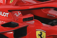 Detalle de los espejos del Ferrari SF71H