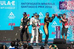 Podyum: Yarış galibi Jean-Eric Vergne, Techeetah, 2. sıra Andre Lotterer, Techeetah, 3. sıra Sébastien Buemi, Renault e.Dams