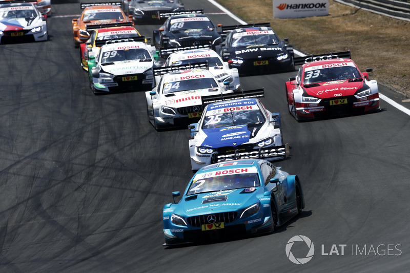 Start action, Gary Paffett, Mercedes-AMG Team HWA, Mercedes-AMG C63 DTM lead