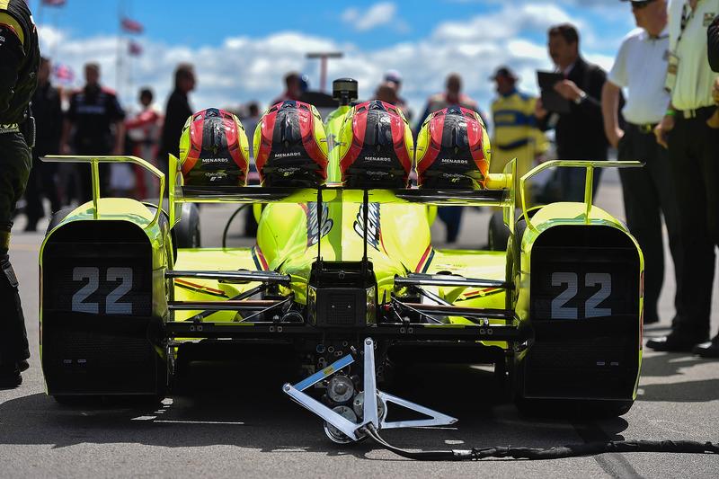 La monoposto di Simon Pagenaud, Team Penske Chevrolet