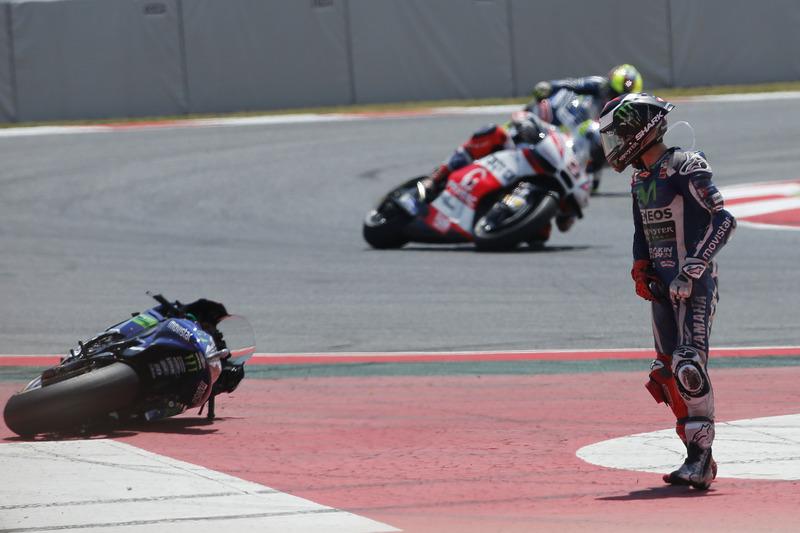 Хорхе Лоренсо, аварія під час Гран Прі Каталонії