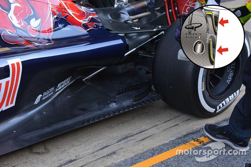 Scuderia Toro Rosso STR11, Heckdetail