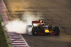 Daniel Ricciardo, Red Bull Racing RB13, bloquea una rueda