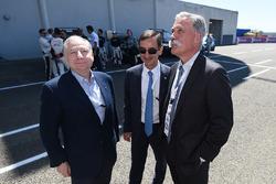 Jean Todt, FIA President, Pierre Fillon, ACO President, Chase Carey, CEO FOM