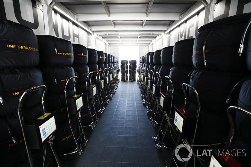 Шини у боксах McLaren Honda