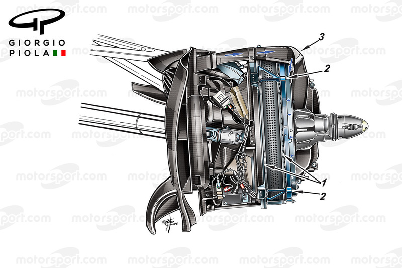 Mercedes W07 front brake disc, captioned, Mexican GP