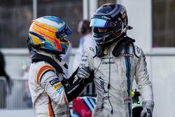 Fernando Alonso, McLaren, third place Lance Stroll, Williams