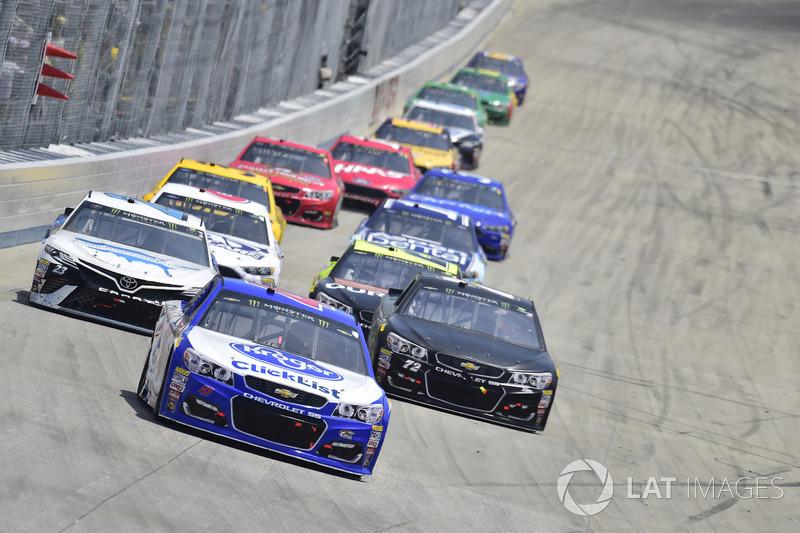 A.J. Allmendinger, JTG Daugherty Racing, Chevrolet; Gray Gaulding, BK Racing, Toyota