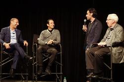 Helio Castroneves e Tony Kanaan festeggiano i loro 20 anni in IndyCar con Dario Franchitti e Gary Gerould