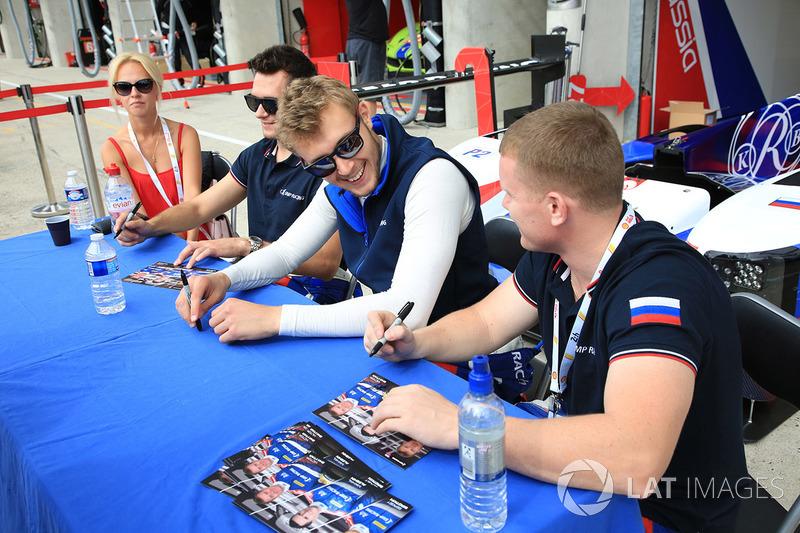 Mikhail Aleshin, Viktor Shaytar, Sergey Sirotkin, SMP Racing