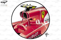 Entrada de aire del Ferrari SF70H
