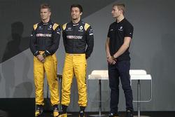Renault Sport F1 Team drivers Nico Hulkenberg, Jolyon Palmer, third driver Sergey Sirotkin